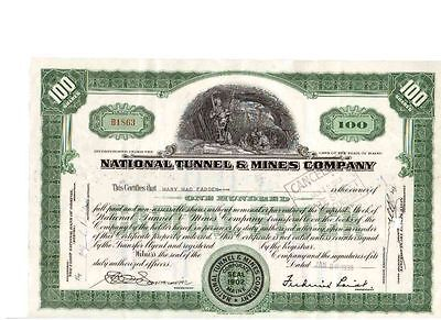 National Tunnel & Mines Company 1938