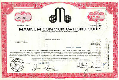 Magnum Communications Corp. 1971