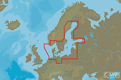 C-MAP - MAX WIDE - Baltic Sea and Denmark - C-CARD
