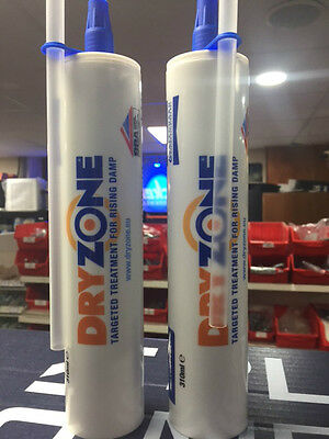 2 Tubes * Dryzone Cream 310Ml - Fits Standard Mastic Gun - Next W/Day Delivery