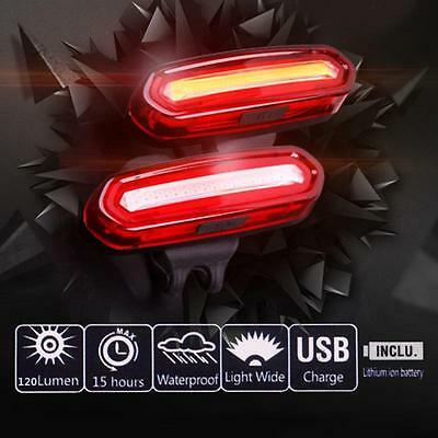 Best Smart USB Rechargeable Bike Bicycle LED Flashing Rear Tail Lights