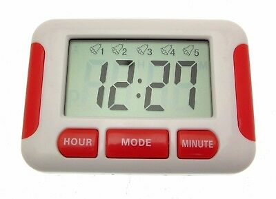 Compact Five Alarm Pill Reminder Medication Management