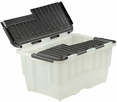 Duracrate Storage Boxes - Clear & Black - 40 Litre - Pack of 5 346819 STRATA