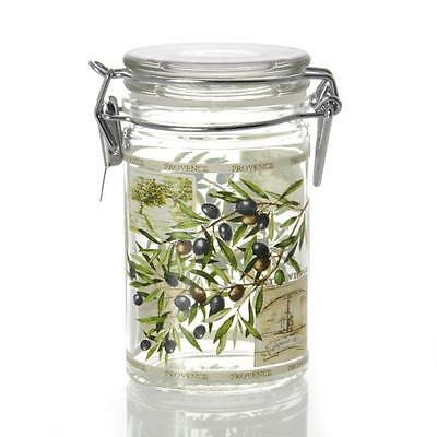 Glass storage jar with rubber seal, 100ml, oval, Frantoio