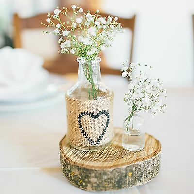 Wedding Party Table Decoration * Rustic Wooden Slice Centrepiece