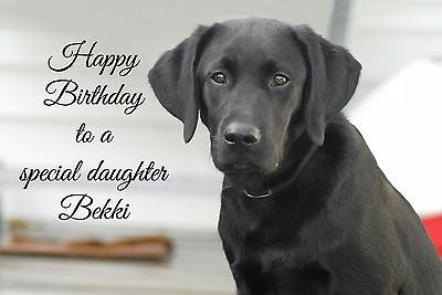 LABRADOR DOG PERSONALISED BIRTHDAY CARD Dad Son Brother Mum Daughter Nan