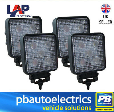 4 x LAP Electrical LED Worklights / Worklamps 12/24v 1100 Lumens - LAPS155