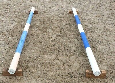 Set Of Timber Blocks/ Raised Trotting Pole, Training Stands
