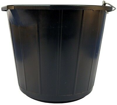 Heavy Duty Plastic Bucket - Black - 14 Litre 135973 CLEENOL