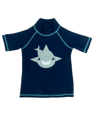Banz Kids UV Short Sleeved Rash Top | Shark | Navy