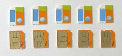 Lot Of 10 Brand New At&t Micro Sim Cards 4G Lte