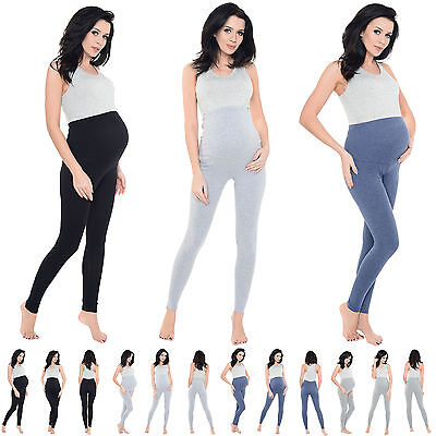 Ladies Full Length Stretchy Soft Viscose Maternity Pregnancy Womens Leggings