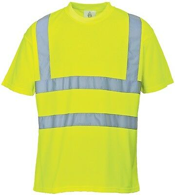 Hi-Vis T-Shirt - Yellow - Small S478YERS PORTWEST