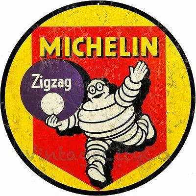 """Antique Style """" Michelin Tires """" Advertisement Metal Sign - Rusted"""