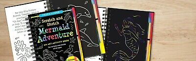 Scratch and Sketch Art Activity Book 9 Titles-- U Choose! FREE SHIPPING Mermaid