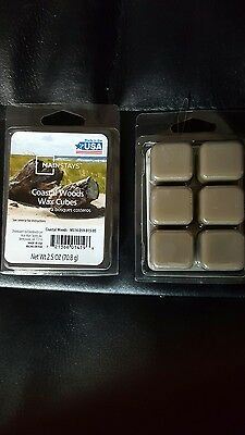 Mainstay Scented Wax Cube Melts Candle 6 Cubes Pack Oil Burner COASTAL WOODS