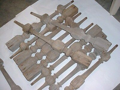 "Lot Of 12 Matching Victorian  Antique Vintage 26"" Wood Porch Spindles Balusters"