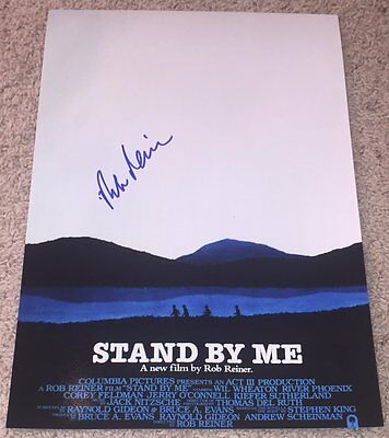 ROB REINER SIGNED AUTOGRAPH STAND BY ME 12x18 PHOTO POSTER w/EXACT VIDEO PROOF