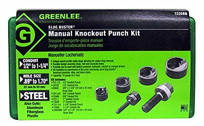 Greenlee 7235BB Slug-Buster Manual Knockout Kit for 1/2 to 1-1/4-Inch Conduit