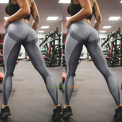 Womens YOGA Running Gym Sports Pants Leggings Ladies Fitness Stretch Trousers
