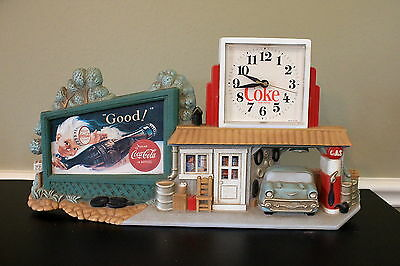 1990 Coca Cola Wall Clock Service Station/Route 66
