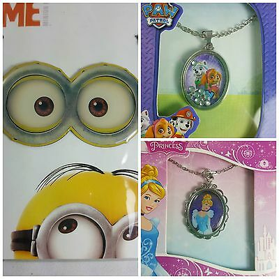 Girls Jewelry Necklace Pendants 10 Different Characters-- U Choose!