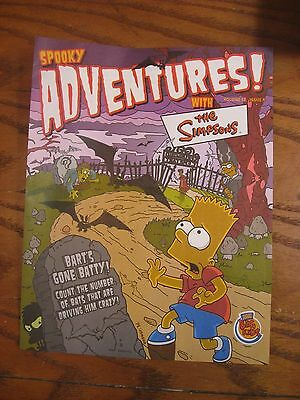 Burger King - The Simpsons - Spooky Adventures Leaflet - Vol. 12 Issue 8 - 2001