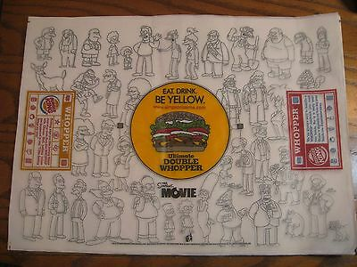 Burger King - The Simpsons -   Whopper Wrapper - New - Characters - 2007