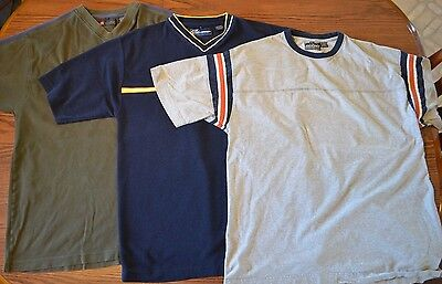 Lot of 3 Short Sleeve Men's Shirts Size L, XL Point Zero, Industrial Exchange
