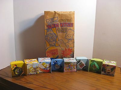 Burger King - The Simpsons - Set of 4 Watches w/ matching bag - 2002