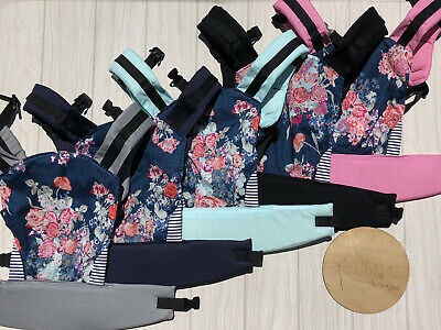 Doll Carrier- Mini Soft Structured Carrier - Flora Blue