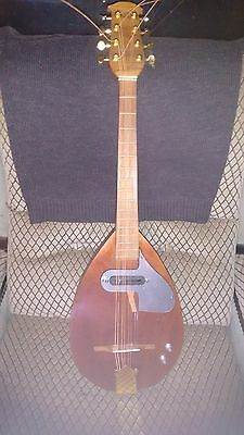 Handmade Solid Body Electric Mandola With Gold Hardware