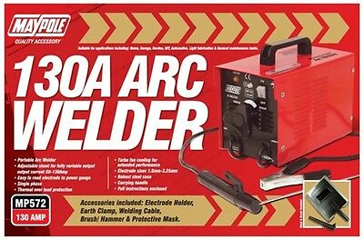 ARC Welder & Accessories - 130A 572 MAYPOLE