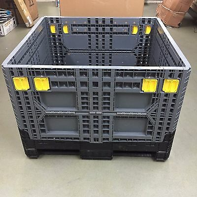 Pallet Box Storage Container Collapsible Automotive Bin 45x47x33 Macro IsoBin