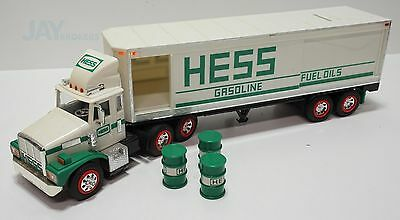 1987 Hess Toy 18 Wheeler Truck with Bank