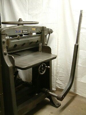 26 1/2 inch Chandler & Price Craftsman Manual Guillotine Paper Cutter /Mfg. 1934