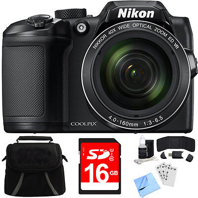 Nikon COOLPIX B500 40x Optical Zoom Digital Camera w/ Built-in Wi-Fi 8GB Bundle