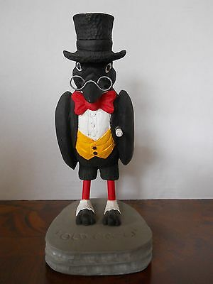 OLD CROW WHISKEY Figure  WOOD CARVED One Of A Kind!