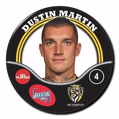 2017 AFL Richmond Player Badge - MARTIN Dustin