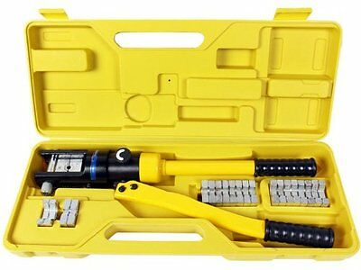 TMS 16 Ton Hydraulic Wire Battery Cable Lug Terminal Crimper Crimping Tool 11