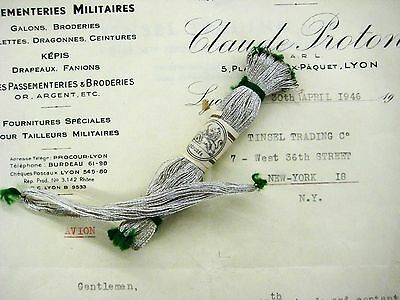 SALE 2 for 1!! Vintage Antique Silver French Metallic Twist Thread Fly Tying