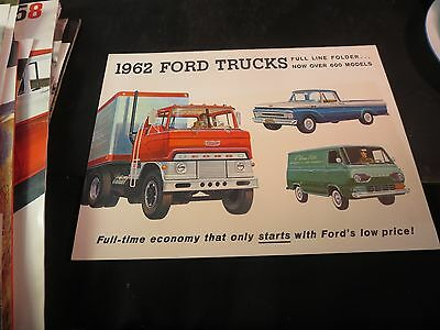 Original 1962 Ford Truck Full Line Folder Sales Brochure