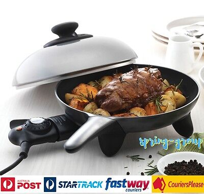 Sunbeam Skillet Non Stick Electric Fry Pan Small 25cm Cooking Frypan Nonstick