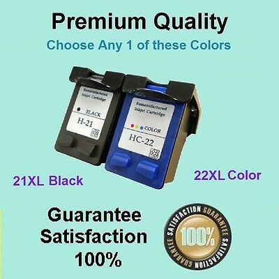 Any 1x Ink Cartridge Compatible with HP 21XL 22XL for Deskjet F2280 F2275 F2235