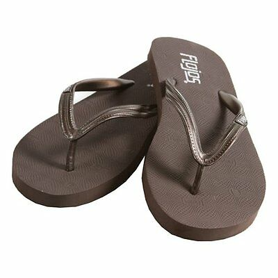 70e201855f FLOJOS Shelby Women's Sandal Flip Flop Metallic Strap Brown