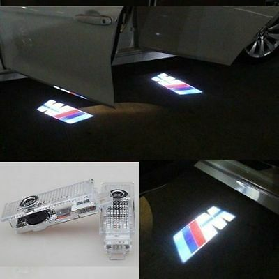 2 CREE LED Door For BMW M Projector Courtesy Puddle Shadow Laser Light Lamp Logo