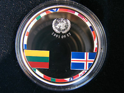 Silver coin of 25th anniversary of the recognition of Lithuania independence