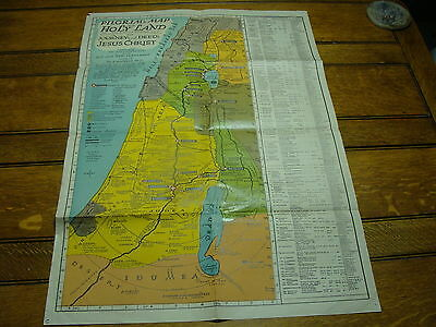 """1942 HOLY LAND POSTER--map 19 1/2 x 27 1/2"""""""