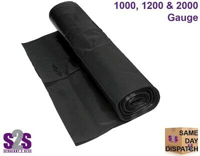 DAMP PROOF MEMBRANE BLACK ~ All Thicknesses ~ 4Mx25M DPM POLYTHENE SHEETING ROLL