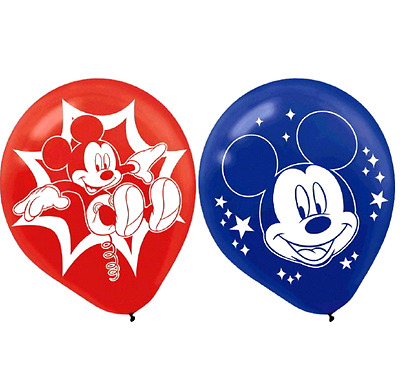 MICKEY MOUSE 6 Balloons Pink Party Supplies Kids Birthday Decoration Disney BN6